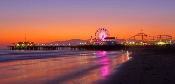 Pier at Santa Monica, California by paulvo