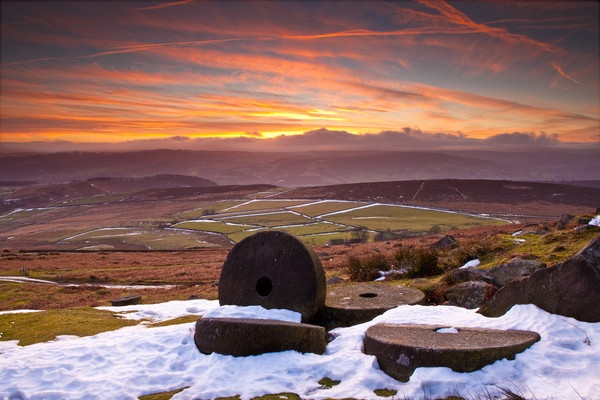 Stanage Sunset Derbyshire by RoyChilds