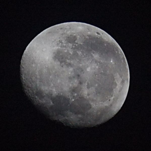 Waning Gibbous Moon in Southern Hemisphere by Degilbo