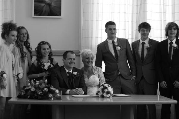 the wedding black and white by glenheg