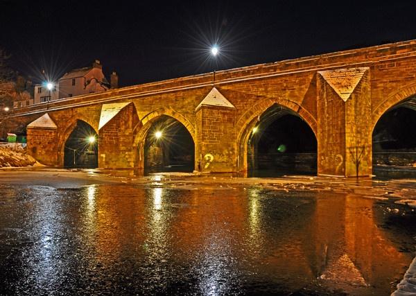 durham bridge at night by tattsdurham