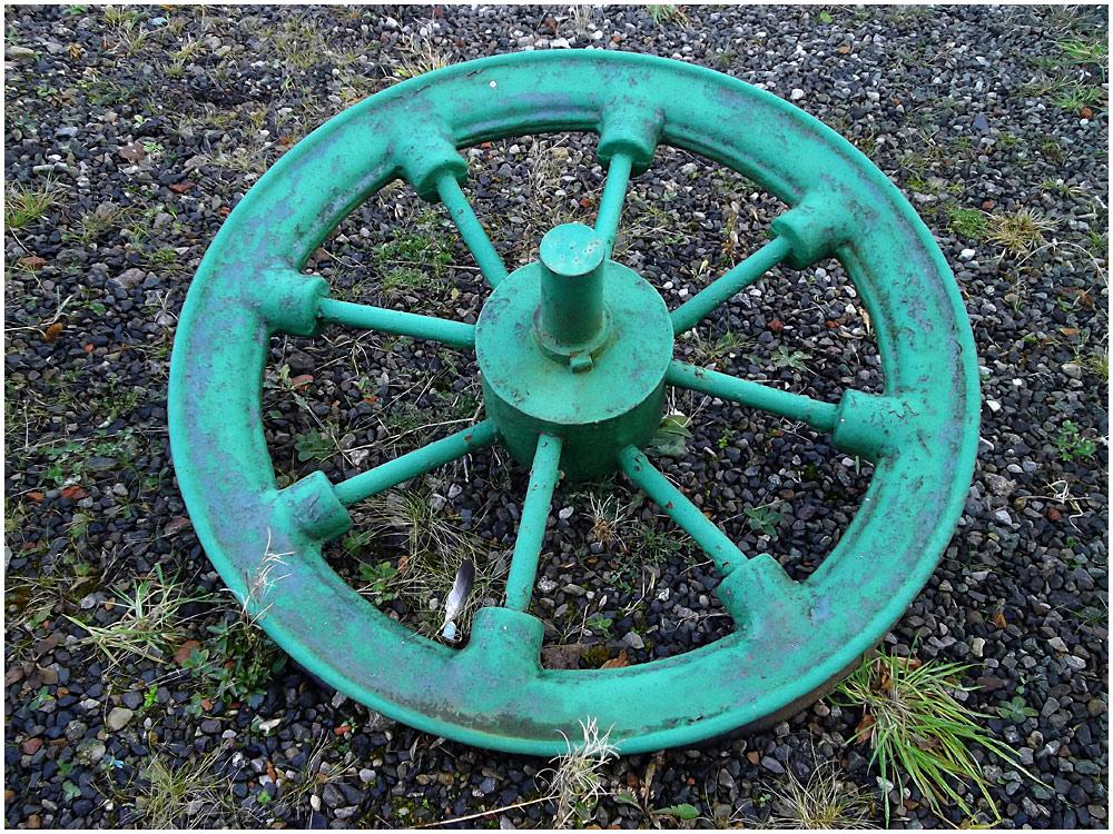 Green Wheel on the Ground