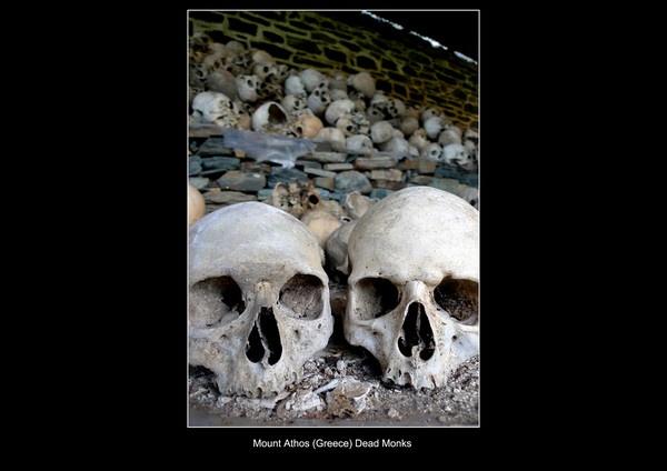Mount Athos, dead monks by WimdeVos