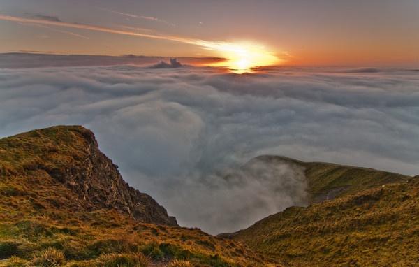 Mam Tor Sunrise Inversion by jamesgrant