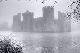 Foggy Bodiam Castle