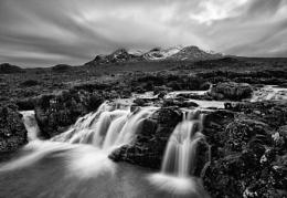 Cuillin waterfall mono
