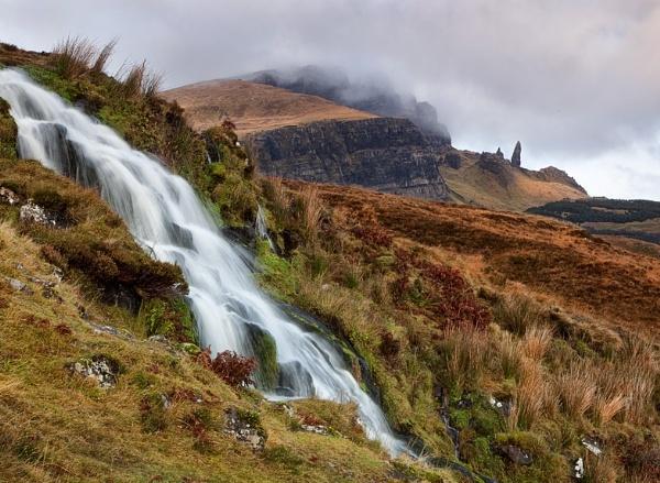 Storr waterfall by treblecel