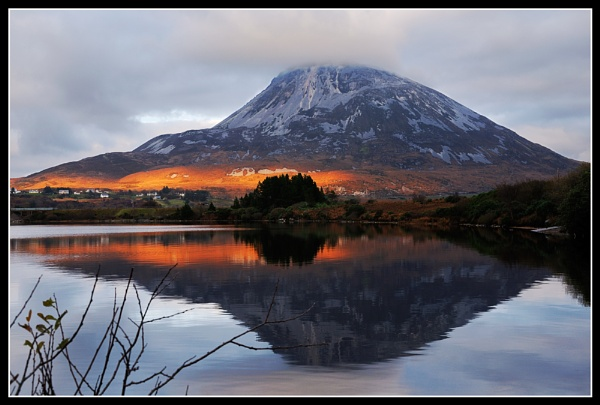 Errigal in reflection by Fisher2