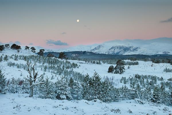 Moon Over Glen Lyon by gnphoto