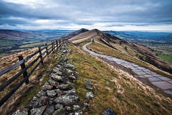 Mam Tor pathway by RoyChilds