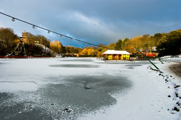 Iced over at Peasholm park by davlin