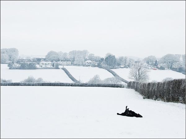 Snow Angel in Black by BlueRoom