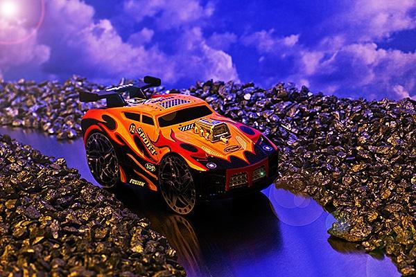 """Gold rush rally car""."