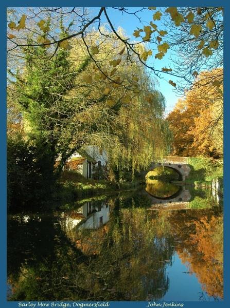 Autumnal Splendour, Barley Mow Bridge, Basingstoke Canal by JohnJenkins99