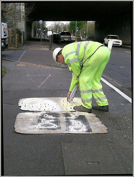 Graffiti artist (authorised)
