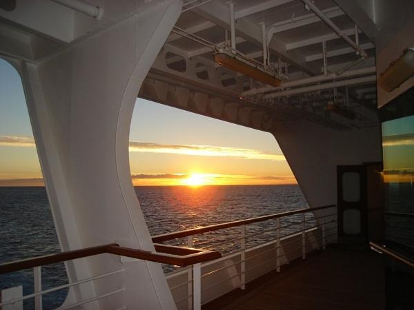 Sun Rise At Sea by portholepaul