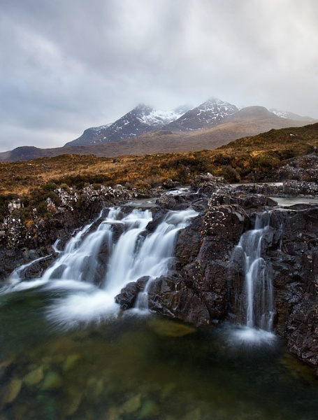 Cuillin waterfall by treblecel