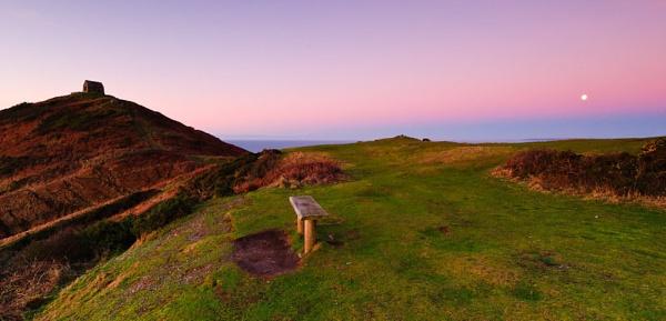 Dawn meets Moonset over Rame Head, Cornwall by lomaxa