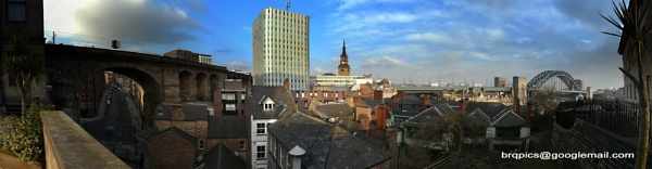 Newcastle Skyline from The Moot Hall. by brq