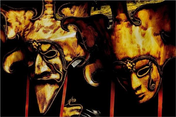 Venician Masks at 35.00 Euros each ! by Berniea
