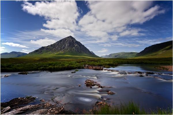 River Etive Cascade... by Scottishlandscapes