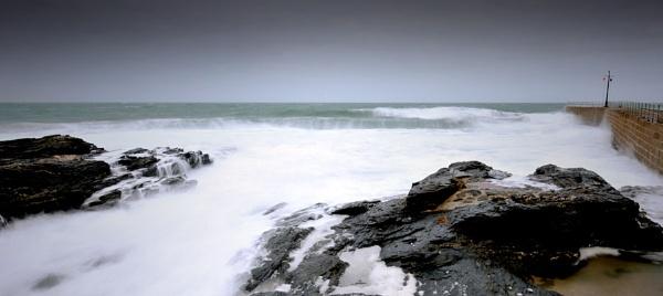 Porthleven stormy waters by paulraymondphotography