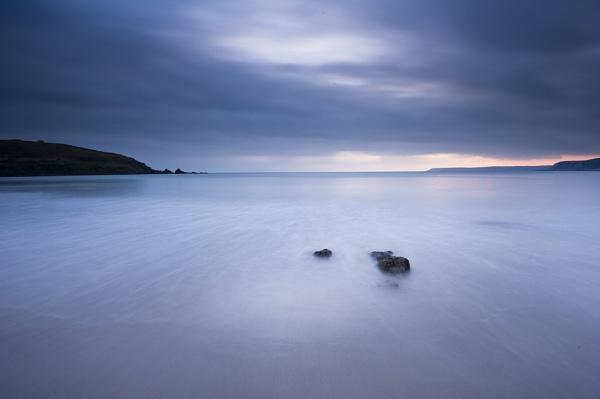 Burgh Island Misty sea by JohnGubbins