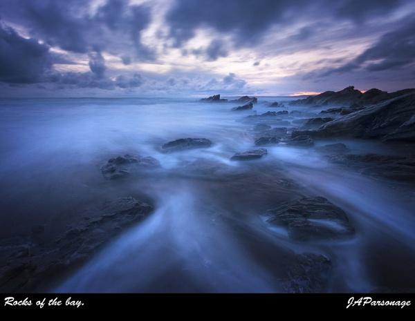 Rocks of the bay by JAParsonage