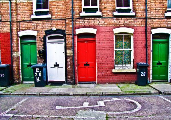 A Cork City Street, Ireland by Shocksy