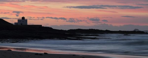 Lindisfarne from Bamburgh by gary_k
