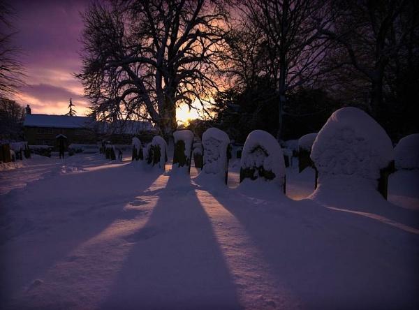 Snowy Graveyard by WilliamRoar