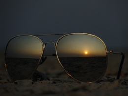 Sunset on my glasses