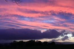 sunset from cauldshiels loch