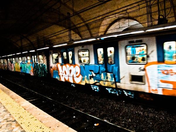 Train in Rome by Shocksy