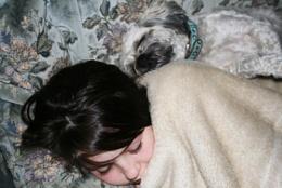 Rissy and JoJo sleeping