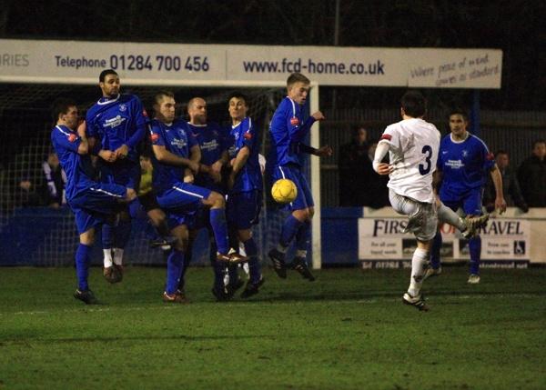 Number 3\'s free kick by Tebbs