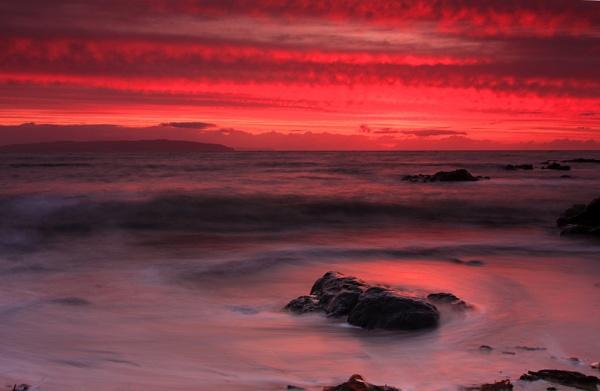 Portstewart Promenade Beach Sunset by chenderson
