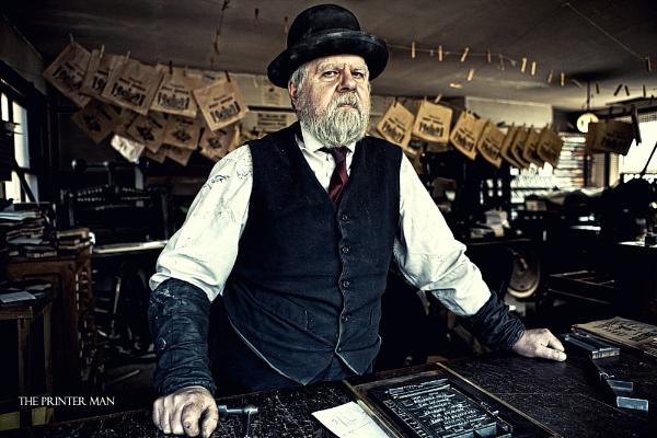The Printer Man by BURNBLUE