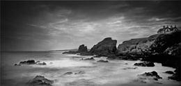 St Abbs   Seascape in  Monochrome