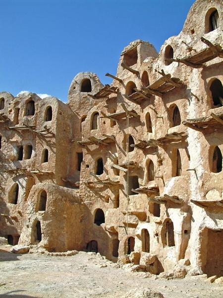 Berber granary - Libya by PaulBeeTee