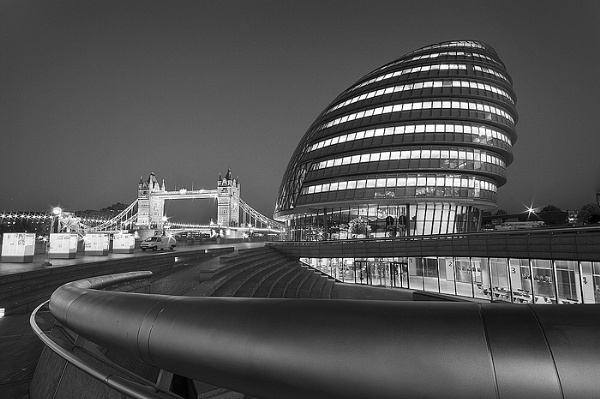 Tower Bridge & City Hall in London by arpad