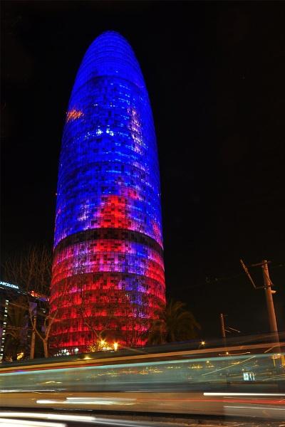 Torre Agbar, Barcelona, March 2011 by caulfid2