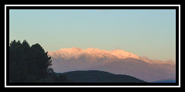 Dawn over the Pyrenees by Elizabethh