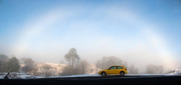 Fog Bow - March 2011 - Loch Doon Ayrshire by DaveH64