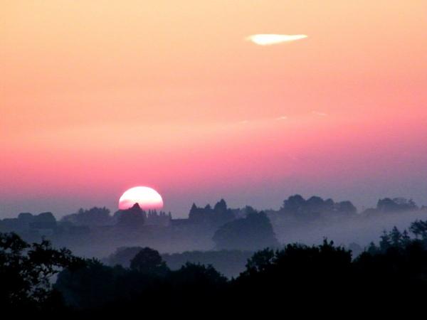 Sunrise above St Nicolas Des Eaux, Morbihan, Brittany. by erichoulder