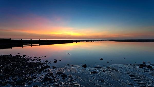 Rossall Sunset by geffers7