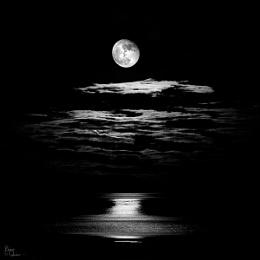 Moon over Lamlash Bay