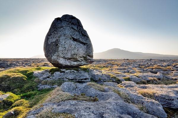 Erratic boulder on Twistleton Scar by eviemay