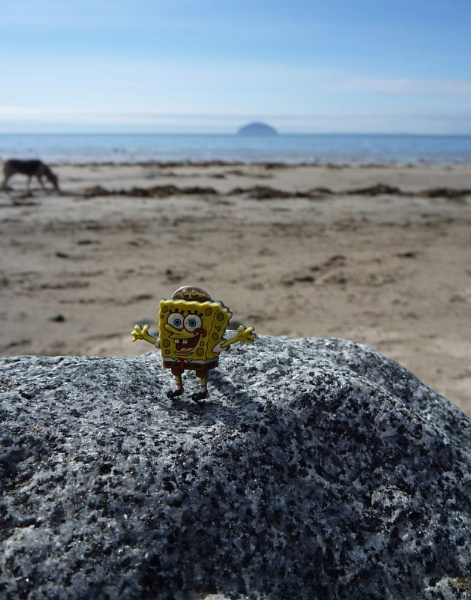 Sponge Bob on the beach by SHADY65