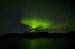 Northern Lights Over Jökulsárlón Glacial Lagoon, Iceland
